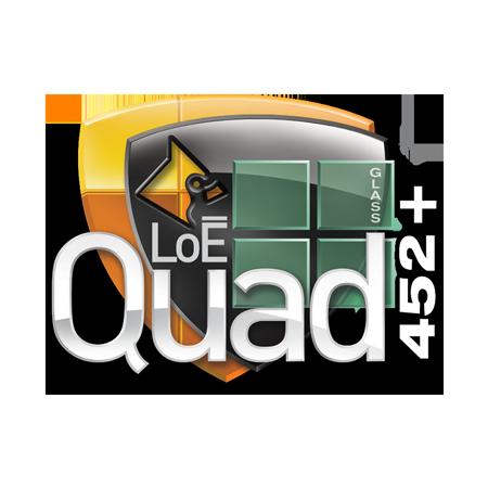 LoE Quad 452+ Cardinal Glass