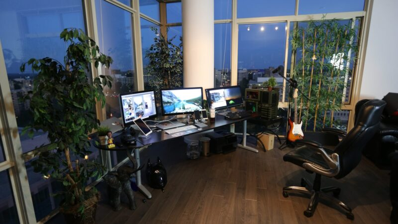 Work from home with big windows